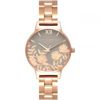 Damen Olivia Burton Lace Detail Watch OB16MV88