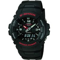 Casio G-Shock Antimagnetic Herenchronograaf Zwart G-100-1BVMUR