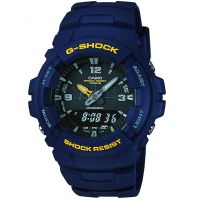 homme Casio G-Shock Antimagnetic Alarm Chronograph Watch G-100-2BVMUR
