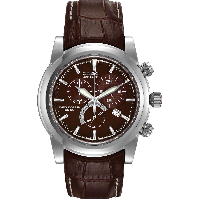 Herren Citizen Chronograph Eco-Drive Watch AT0550-11X