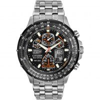 Mens Citizen Skyhawk AT Titanium Alarm Chronograph Radio Controlled Eco-Drive Watch