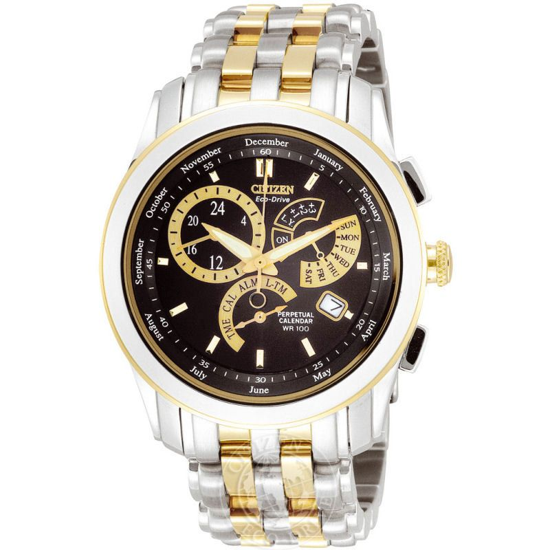 Herren Citizen Calibre 8700 Alarm Eco-Drive Watch BL8004-53E