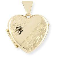 handgraviert Herz Medaillon