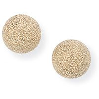 5mm Frosted Ball Stud Earrings