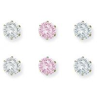 Triple Cubic Zircona Stud Earring Set