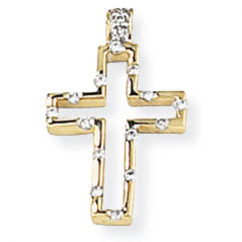 Open Diamond Cross