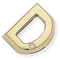 Diamond D Initial Pendant