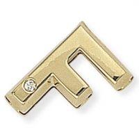 Diamond F Initial Pendant