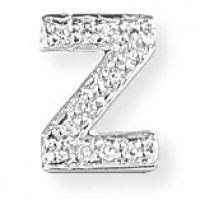 Weißgold Diamant Z Initiale Anhänger