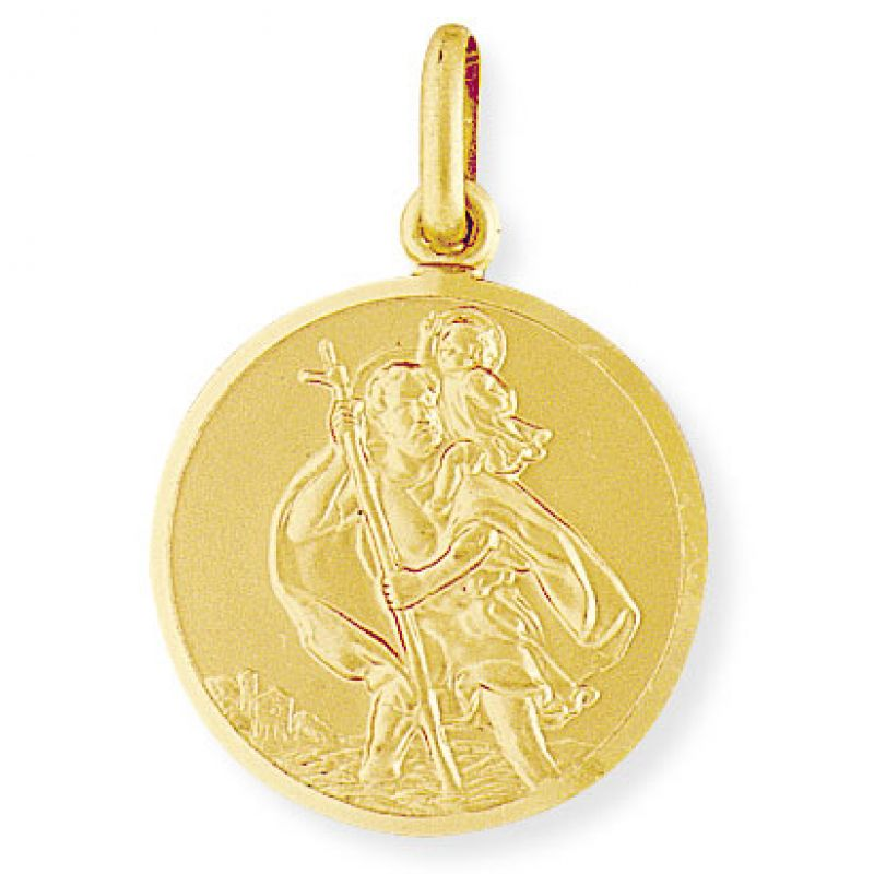 Large Round St. Christopher Medallion