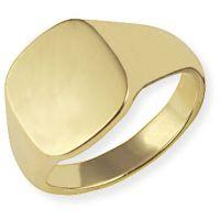 klassisch Oxford Polster Signet Ring Größe V