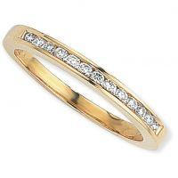 0.15ct tw VS Brillantschliff Halbe-Ewigkeit-Diamant Ring Größe Q