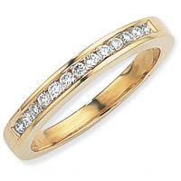 0.25ct tw VS Brillantschliff Halbe-Ewigkeit-Diamant Ring Größe L