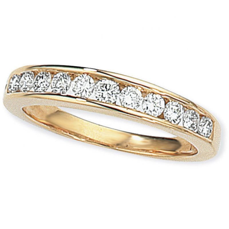 0.50ct tw VS Brilliant-cut Half Eternity Diamond Ring Size O