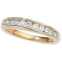 0.50ct tw VS Brillantschliff Halbe-Ewigkeit-Diamant Ring Größe O