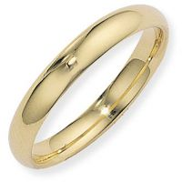 4mm Court-Shaped Band Size N