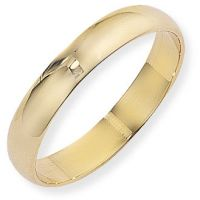 4mm D-Shaped Band Size N