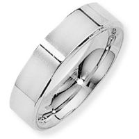 White Gold 5mm Essential Flat-Court Band Size Y
