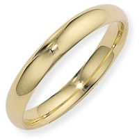 4mm Essential Court-Shaped Band Size P