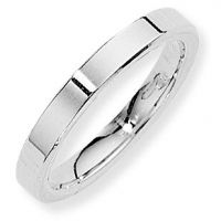 White Gold 3mm Essential Flat-Court Band Size M