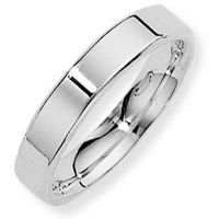 White Gold 4mm Essential Flat-Court Band Size K