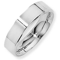 White Gold 5mm Essential Flat-Court Band Size T