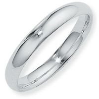4mm Court-Shaped Band Size T