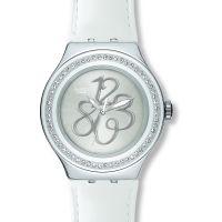 Damen Swatch geperlt Glanz Uhr