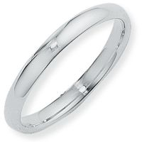 3mm Court-Shaped Band Size R