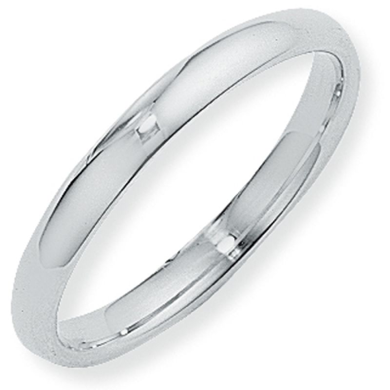 3mm Court-Shaped Band Size S