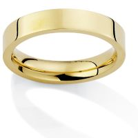 4mm Premium Flat Court-Shaped Band Size R
