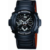 homme Casio G-Shock Alarm Chronograph Watch AW-591MS-1AER
