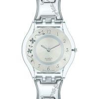 Damen Swatch schmal Climber geblümt Uhr