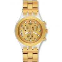 Unisex Swatch Full-Blooded Gold Chronograph Watch