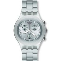 Herren Swatch Full-Blooded Silver Chronograph Watch SVCK4038G
