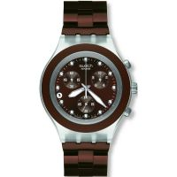 Mens Swatch Full-Blooded Earth Chronograph Watch
