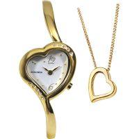 Damen Sekonda Anhänger Geschenk-Set Uhr