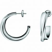 femme Calvin Klein Jewellery Coil Earrings Watch KJ63AE010100