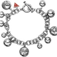 Ladies Guess Rhodium Plated Baubles Bracelet