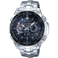 homme Casio Edifice Waveceptor Alarm Chronograph Radio Controlled Watch ECW-M300EDB-1AER