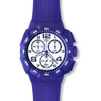 homme Swatch Purple Funk Chronograph Watch SUIV400