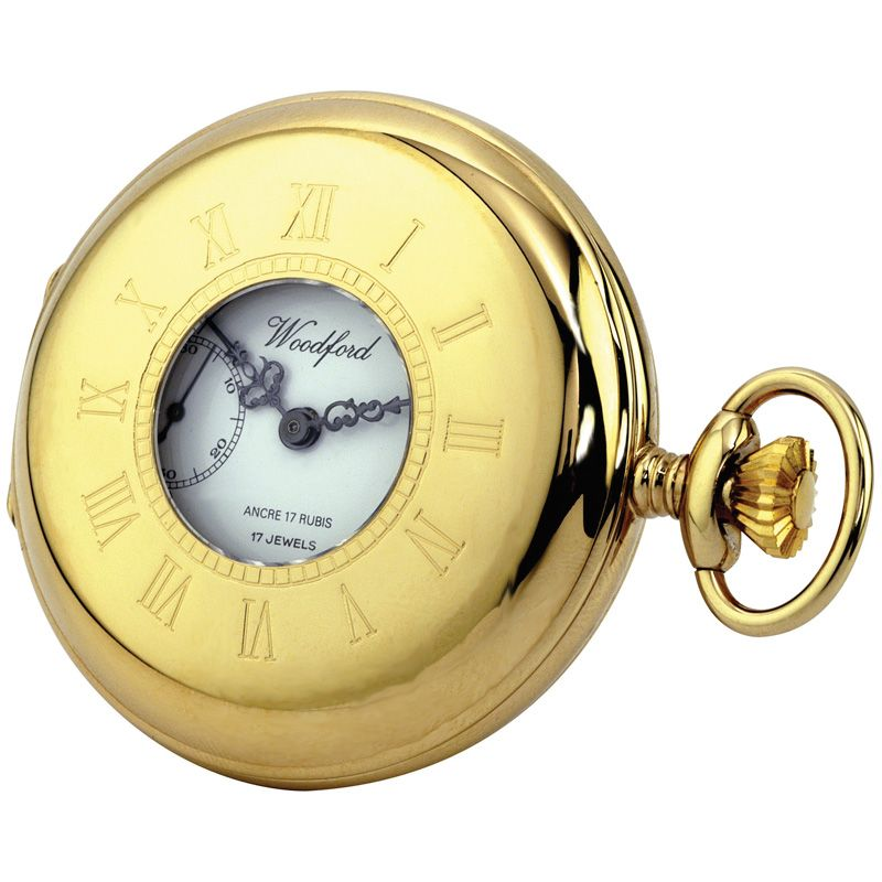 Taschenuhr Woodford Half Hunter Pocket Watch WF1010