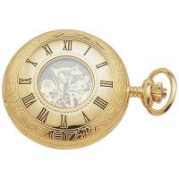 Woodford halb Hunter Tasche Skelett mechanisch Uhr