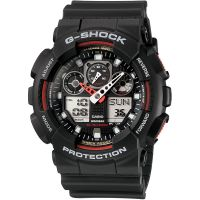 homme Casio G-Shock Alarm Chronograph Watch GA-100-1A4ER