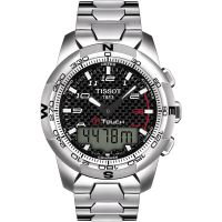 homme Tissot T-Touch II Alarm Chronograph Watch T0474204420700