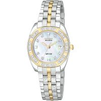 Damen Citizen Paladion Diamond Eco-Drive Watch EW1594-55D