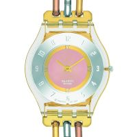 femme Swatch Skins Tri-Gold Watch SFK240A