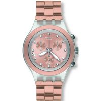 unisexe Swatch Full-Blooded Caramel Chronograph Watch SVCK4047AG