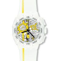 Herren Swatch Street Karte Gelb Chronograf Uhr