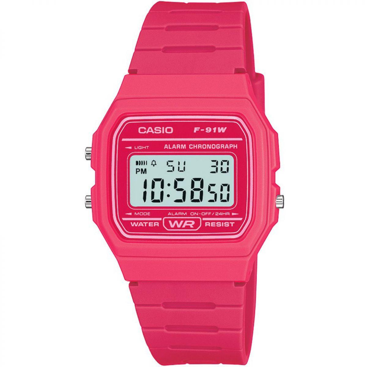 Casio F-91WC-4AEF Watch - Pink - Factory Sale